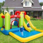 Opblaasbaar Springkasteel met Glijbaan en Kinderzwembad
