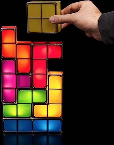 Stapelbare Tetris LED Lamp