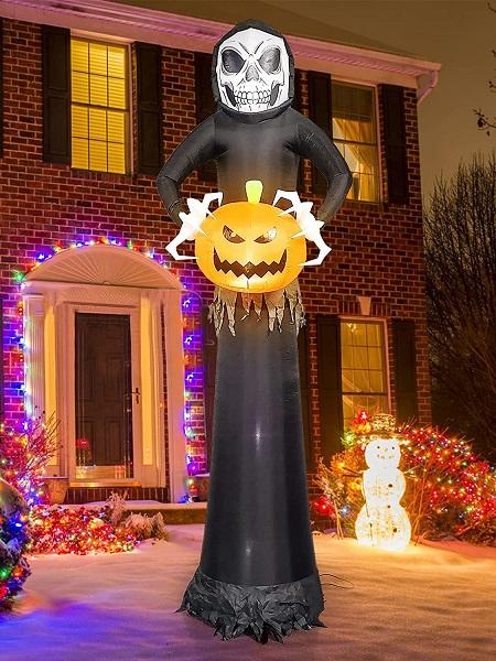 Opblaasbaar Halloween Spook met LED verlichting – 270 cm Hoog