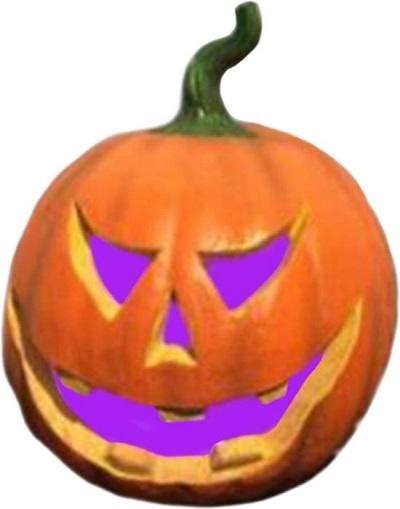 Halloween pompoen met verschillende kleuren licht. De perfecte sfeermaker voor je Halloween feest.
