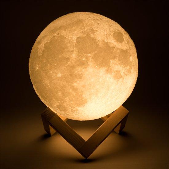 LED Maan Lamp met 2 Kleurstanden