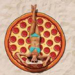 Pizza Strandlaken