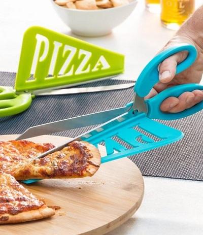 Handige pizzaschaar