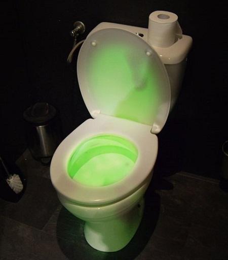 Handige gekleurde toilet LED verlichting met bewegingssensor.
