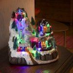 Kerstdorp met LED, Skilift en Geluid