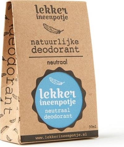 Lekker in een Potje - Natuurlijke, plantaardige en diervriendelijke deodorant die ervoor zorgt dat je altijd lekker ruikt zonder je poriën te verstoppen.