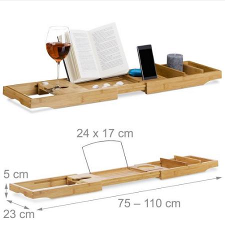 Verstelbaar houten badrek-badbrug