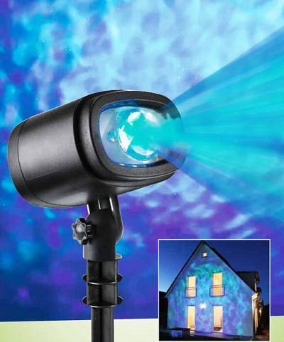 Belicht de gevel van je huis op een bijzondere manier of verander iedere kamer in een heerlijk rustgevende plek met deze LED water projector.