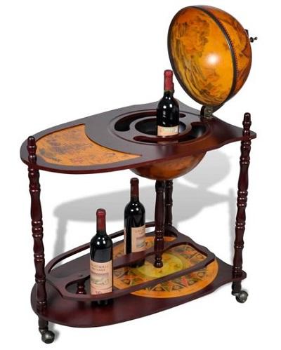 Met dit prachtige wereldbol wijnrek serveer je voortaan je wijn in stijl.