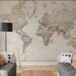 Fotobehang Wereldkaart