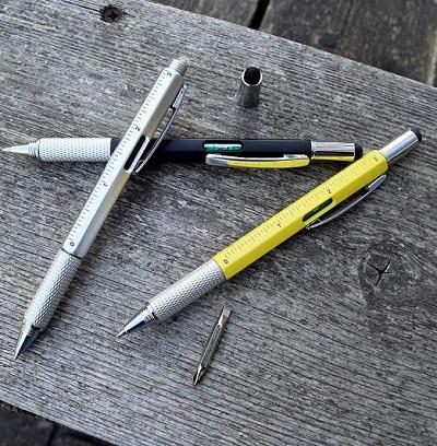 Handige multi-tool pen met 6 stukken gereedschap. Perfect cadeau voor klussers en doe-het-zelvers.