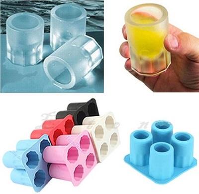 Siliconen ijs shotglaasjes vorm.