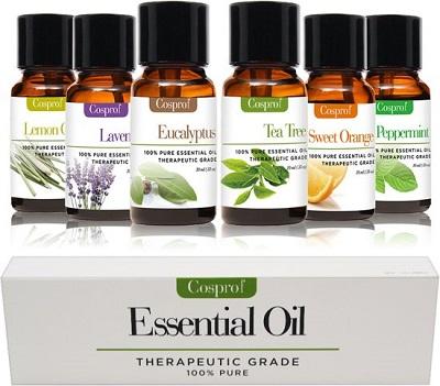 Essentiële oliën geschenk set met zes etherische oliën.