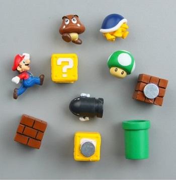 Super Mario koelkast magneten.