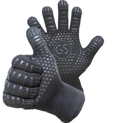 Kevlar BBQ handschoenen met siliconen profiel voor extra grip.