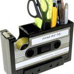 Retro Cassette Plakbandhouder en Bureau Organizer