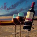Wijnfles en Wijnglas Houders voor Strand en Picknick