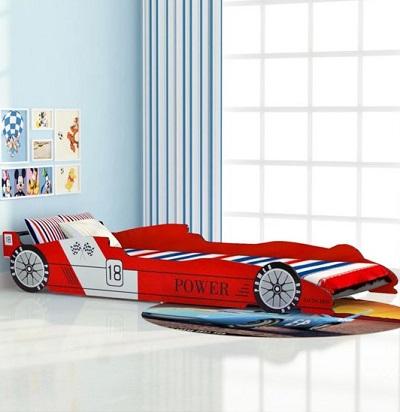 Kinder raceauto bed