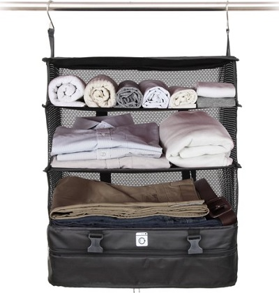Handige koffer organizer en opvouwbare kledingkast.