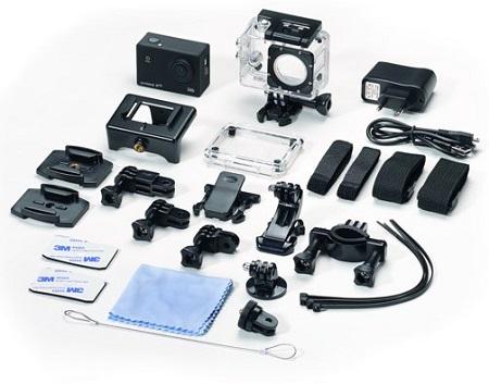 Action cam met wifi, waterdichte behuizing en diverse aansluitmogelijkheden.