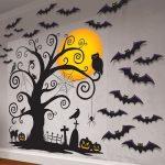 Halloween Muurdecoratie Boom met Vleermuizen