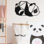 Metalen Panda Wanddecoratie