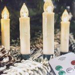 Draadloze LED Kerstboomlampjes - Kaarsmodel - Met Afstandsbediening