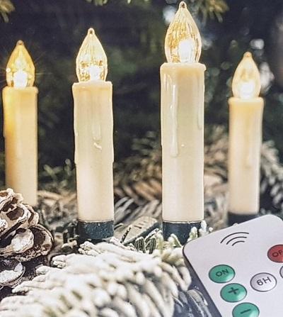 Draadloze LED Kerstboomlampjes – Kaarsmodel – Met Afstandsbediening