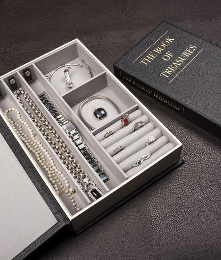 Juwelenboek - Geheim sieradenkistje in een boek.