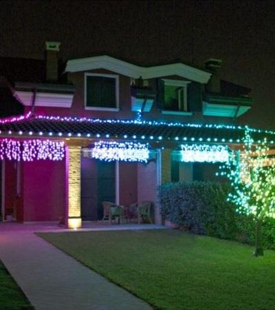 Twinkly Smart verlichtingsgordijn, kerstverlichting voor buiten en binnen.