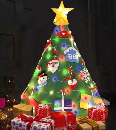 Vilten Kinder Kerstboom 3D