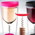 Vino Opener Cup - Wijnglas met Kurkentrekker