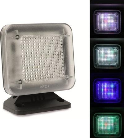 TV simulator die met behulp van gekleurde LED's realistisch een TV nabootst. Helpt inbraak voorkomen.