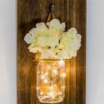 Houten Wanddecoratie met LED