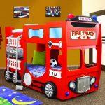 Brandweerwagen Stapelbed – Kinderbed - Incl. Matras