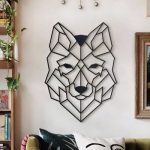 Metalen Wolf Muurdecoratie