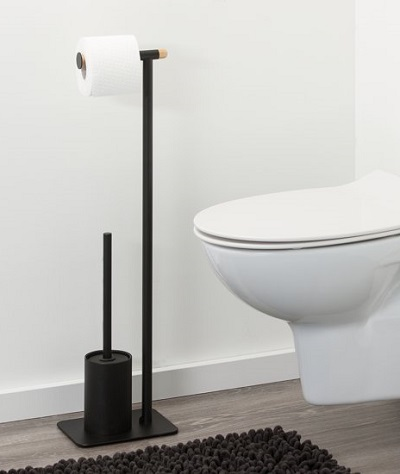 Toiletbutler toiletrek met rolhouder en toiletborstel.