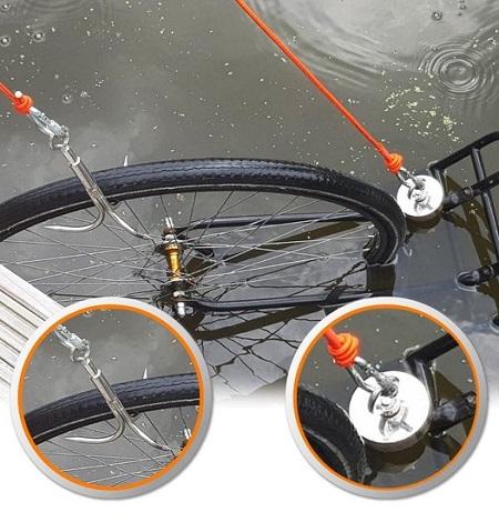 Magneetvissen Set – 475 KG Vismagneet – 2 touwen – Drekhaak – Handschoenen – Borgmiddel