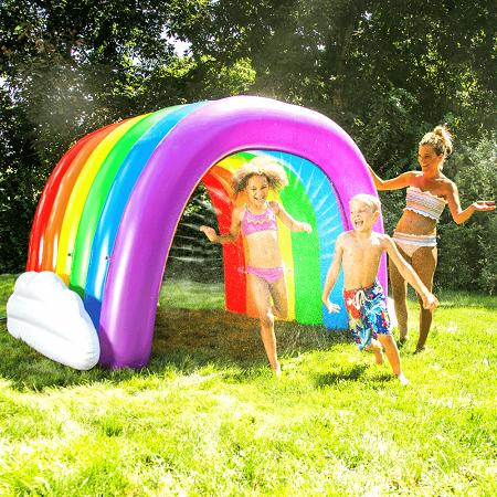 Regenboog tunnel sprinkler