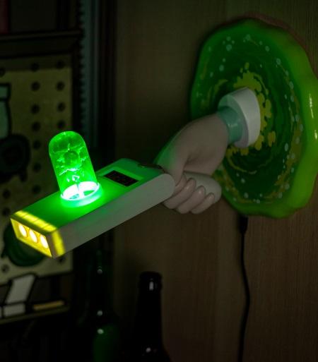 Rick and Morty Portal Gun Lamp