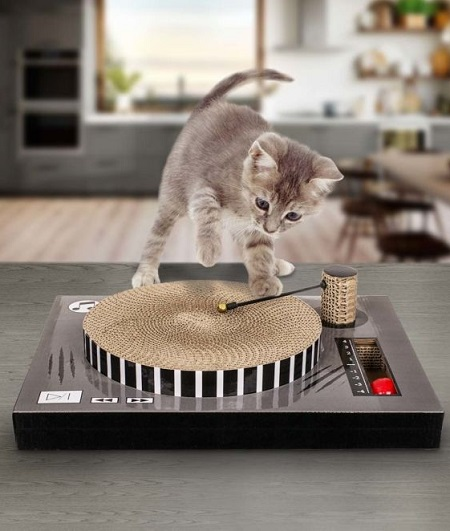 Platenspeler Katten Krabplank