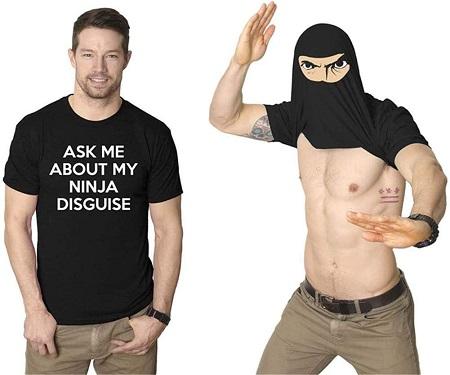Ninja Disguise Flip T Shirt