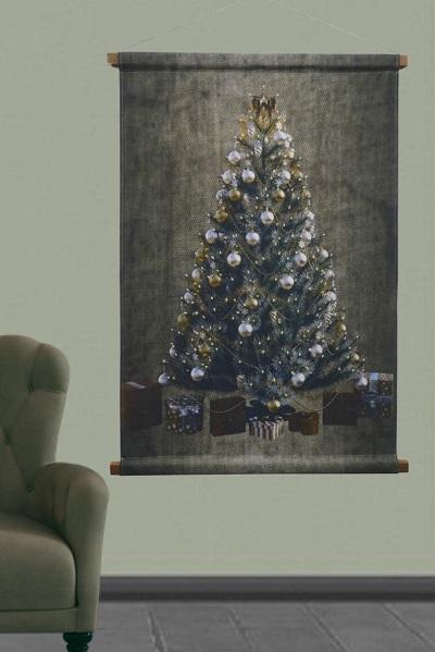 Kerstboom wandkleed voor binnen en buiten.