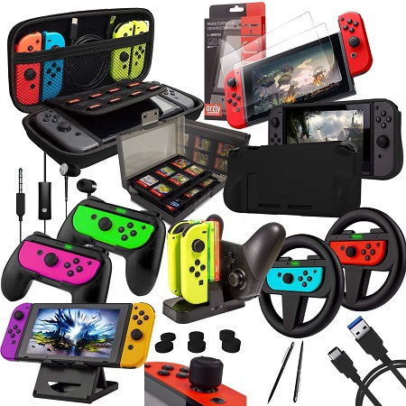 Ultieme Switch Accessoire Set – Orzly Geek Pack