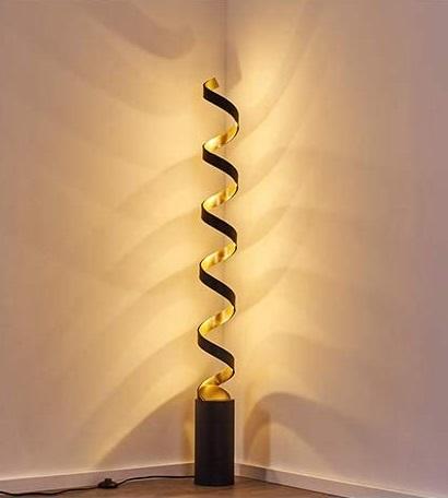Spiraalvormige LED Vloerlamp – Rezat