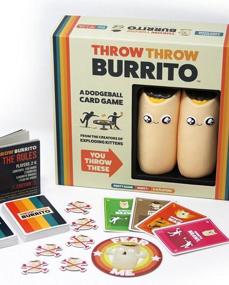 Throw Throw Burrito - een combinatie van een kaartspel met trefbal.