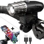 USB Oplaadbare Fietslamp - LED incl. Telefoonhouder