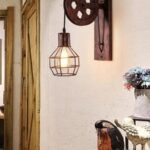 Katrol Lamp - Industriële Wandlamp