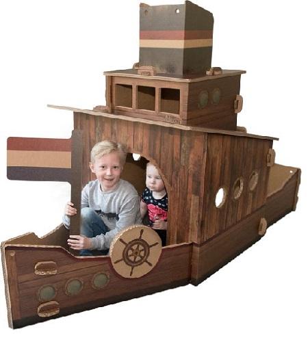 Speelboot van Hut naar Her.