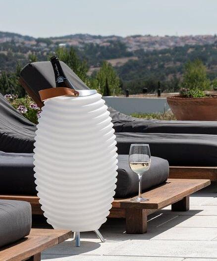 Synergy 50S Speakerlamp - sfeervolle verlichting, Bluetoothspeaker en wijnkoeler in één.